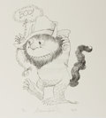 Books:Prints & Leaves, Maurice Sendak. Signed/Limited Print Entitled, Hillbilly WildThing. Parchment Gallery, 1997. Approx. 11 x 10 inches...
