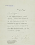 Autographs:Letters, 1927 President Calvin Coolidge Signed Letter re: Walter Johnson Daywith Related Ephemera....