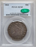 Bust Half Dollars: , 1822 50C XF45 PCGS. CAC. PCGS Population (85/493). NGC Census:(68/410). Mintage: 1,559,573. Numismedia Wsl. Price for prob...