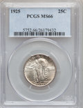 Standing Liberty Quarters: , 1925 25C MS66 PCGS. PCGS Population (23/1). NGC Census: (12/1).Mintage: 12,280,000. Numismedia Wsl. Price for problem free...