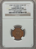 Civil War Merchants, Mittnacht's Eagle Safe, New York, New York MS63 Red and Brown NGC.Fuld-NY630BA-2a....