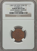 Civil War Merchants, John Quinn, Grocer, New York, New York MS63 Red and Brown NGC.Fuld-NY630BG-6a....