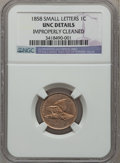 Flying Eagle Cents, 1858 1C Small Letters -- Improperly Cleaned -- NGC Details. Unc.NGC Census: (0/3). PCGS Population (2/592). Numismedia Ws...