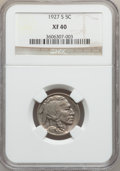 Buffalo Nickels: , 1927-S 5C XF40 NGC. NGC Census: (30/466). PCGS Population (26/728).Mintage: 3,430,000. Numismedia Wsl. Price for problem f...