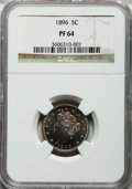 Proof Liberty Nickels: , 1896 5C PR64 NGC. NGC Census: (143/142). PCGS Population (213/95).Mintage: 1,862. Numismedia Wsl. Price for problem free N...