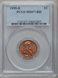 Lincoln Cents: , 1995-D 1C MS67+ Red PCGS. PCGS Population (255/61). NGC Census:(145/56). Numismedia Wsl. Price for problem free NGC/PCGS ...