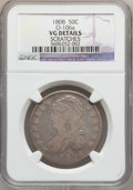 Bust Half Dollars: , 1808 50C -- Scratches -- NGC Details. VF. O-106a. NGC Census:(19/409). PCGS Population (30/530). Mintage: 1,368,600. Numi...