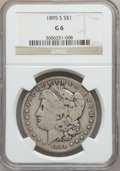 Morgan Dollars: , 1895-S $1 Good 6 NGC. NGC Census: (86/1801). PCGS Population(96/3032). Mintage: 400,000. Numismedia Wsl. Price for problem...