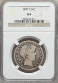 Barber Half Dollars: , 1897-S 50C Good 6 NGC. NGC Census: (12/131). PCGS Population(27/272). Mintage: 933,900. Numismedia Wsl. Price for problem ...