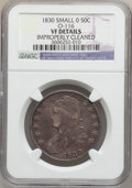 Bust Half Dollars, 1830 50C Small 0 -- Improperly Cleaned -- NGC Details. VF. O-116.NGC Census: (27/1715). PCGS Population (15/1579). Mintag...