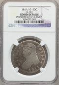Bust Half Dollars: , 1811/10 50C -- Improperly Cleaned -- NGC Details. GOOD. O-101. NGCCensus: (0/284). PCGS Population (0/151). Numismedia W...