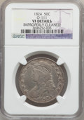 Bust Half Dollars: , 1824 50C -- Improperly Cleaned -- NGC Details. VF. O-111. NGCCensus: (16/864). PCGS Population (21/941). Mintage: 3,504,9...