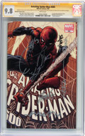 Modern Age (1980-Present):Superhero, The Amazing Spider-Man #600 Quesada Variant Cover - Signed by StanLee and Others (Marvel, 2009) CGC Signature Series NM/MT 9....