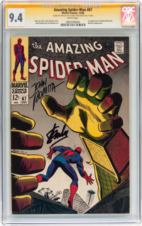 The Amazing Spider-Man #67 Signed by Stan Lee and John Romita Sr. (Marvel, 1968) CGC Signature Series NM 9.4 White pages...