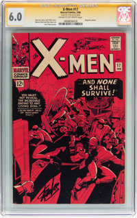 X-Men #17 Signed by Stan Lee (Marvel, 1966) CGC Signature Series FN 6.0 Cream to white pages
