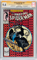 Modern Age (1980-Present):Superhero, The Amazing Spider-Man #300 Stan Lee and Others (Marvel, 1988) CGCSignature Series NM 9.4 White pages....
