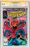 Modern Age (1980-Present):Superhero, The Amazing Spider-Man #238 Signed by Stan Lee and John Romita Sr. and Jr. (Marvel, 1983) CGC Signature Series NM 9.4 Off-whit...