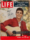 Music Memorabilia:Autographs and Signed Items, Ricky Nelson Autographed Life Magazine. ...