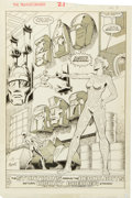 Original Comic Art:Splash Pages, Don Perlin and Brian Garvey Transformers #21 Page 23 Original Art(Marvel, 1986)....