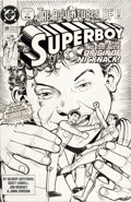 Original Comic Art:Covers, Kevin Maguire and Ty Templeton The Adventures of Superboy#20 Cover Original Art (DC, 1991)....