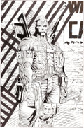 Original Comic Art:Panel Pages, Rob Liefeld X-Force #8 Cable Pin-Up Splash Page 27 OriginalArt (Marvel, 1992)....