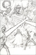 Original Comic Art:Splash Pages, Philip Tan The Uncanny X-Men #431 Sentinels Splash Page 3Original Art (Marvel, 2003). ...