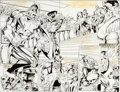 Original Comic Art:Splash Pages, Dave Hoover and Danny Bulanadi Captain America #430 Pages 2and 3 Original Art (Marvel, 1994)....
