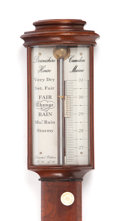 Prints, VICTORIAN STYLE MAHOGANY STICK BAROMETER. 20th century. 38 x 5 inches (96.5 x 12.7 cm). Limited edition reproduction 23/30. ...