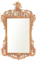 Decorative Arts, British:Other , A GEORGE III-STYLE CHIPPENDALE PAINTED AND GILT CARVED MIRROR FRAME. Circa 1930. 50-1/2 high x 30-1/2 inches wide (128.3 x ...