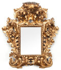 Decorative Arts, Continental:Other , A FLORENTINE CARVED GILT WOOD MIRROR FRAME . Circa 1880. 34 x 30 x8 inches (86.4 x 76.2 x 20.3 cm). ...