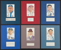 Baseball Collectibles:Others, Baseball Hall of Famers Signed Cut Signature Displays Lot of 6....