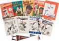 Baseball Collectibles:Others, 1940s-50s Brooklyn Dodgers & Jackie Robinson Collectibles Yearbooks, I'm Rooting For Jackie Pinback. ...