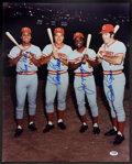 Baseball Collectibles:Photos, Big Red Machine Multi Signed Oversized Photograph....