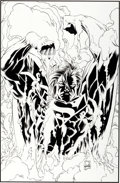Original Comic Art:Covers, Joe Quesada and Jimmy Palmotti Wizard the ComicsMagazine #59 Superman Cover Original Art (Wizard, 199...