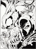 Original Comic Art:Illustrations, J. Scott Campbell and Tim Townsend Wizard the Comics Magazine Spider-Man/Spawn Promo Illustration Orig...