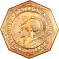 Commemorative Gold, 1915-S $50 Panama-Pacific 50 Dollar Octagonal MS64 NGC....