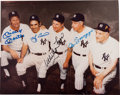 Autographs:Photos, 1980's New York Yankees Legends Multi-Signed Photograph....