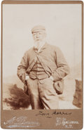 """Golf Collectibles:Autographs, Circa 1900 """"Old Tom"""" Morris Signed Cabinet Photograph. ..."""