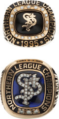 Baseball Collectibles:Photos, 1995-96 St. Paul Saints Championship Rings Lot of 2....