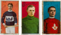 Hockey Cards:Lots, Signed 1910-Era C59 & C60 Lacrosse Series Trio (3) with Malone!...