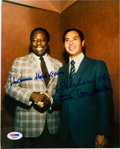 Baseball Collectibles:Photos, 1990's Hank Aaron & Sadaharu Oh Signed Photograph With UniqueInscriptions, PSA/DNA Gem Mint 10. ...