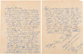 Autographs:Letters, 1952-53 Ted Williams Handwritten Signed Love Letters Lot of 3....