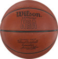 "Basketball Collectibles:Balls, 1979 ""Wilson"" Official NBA Leather (Larry O'Brien) GameBasketball...."
