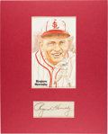 Autographs:Others, Circa 1940 Rogers Hornsby Signed Cut Signature Display....