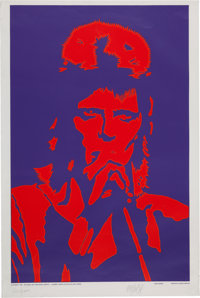 """David Bowie Limited Edition """"Black Light"""" Poster #853/2000 (Reliance Art, 1990)"""