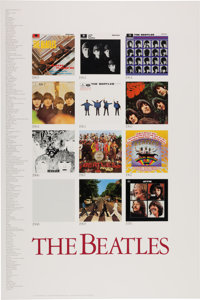 The Beatles Album Cover Poster (Apple Corps/Determined Productions, 1987)