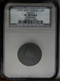1773 1/2P --Corroded--Virginia Halfpenny, Period NCS. XF Details. NGC Census: (0/0). PCGS Population (5/186). (#240)...(...