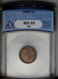 1885 1C MS65 Red and Brown ANACS. NGC Census: (72/17). PCGS Population (38/4). Mintage: 11,765,384. Numismedia Wsl. Pric...