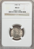 Liberty Nickels: , 1900 5C MS61 NGC. NGC Census: (15/707). PCGS Population (9/798).Mintage: 27,255,996. Numismedia Wsl. Price for problem fre...