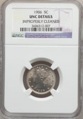 Liberty Nickels: , 1906 5C -- Improperly Cleaned -- NGC Details. UNC. NGC Census:(1/522). PCGS Population (8/705). Mintage: 38,613,724. Numis...